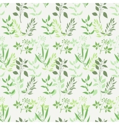 Seamless green plant background vector