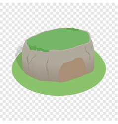 sigiriya rock sri lanka isometric icon vector image