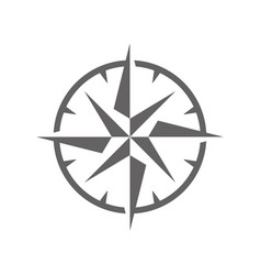 simple wind rose symbol vector image