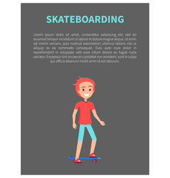 skateboarding banner and text vector image