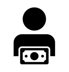 Sponsor icon male user person profile avatar sign vector