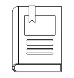 Story book icon outline style vector