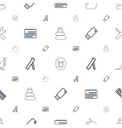 Symbol icons pattern seamless white background vector