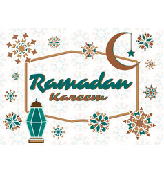 Text inscription ramadan k vector