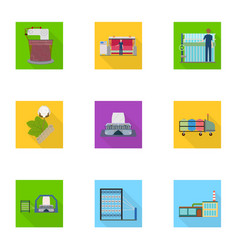 textiles industry tissue and other web icon in vector image