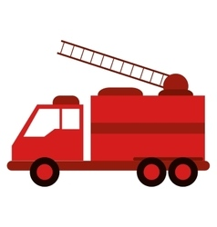 Truck fire rescue urgency attention vector