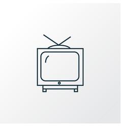 tv icon line symbol premium quality isolated vector image