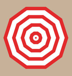 umbrella with red stripes top view vector image