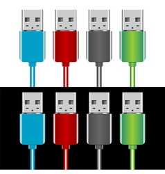 usb plugs vector image