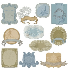 vintage set labels and tags vector image