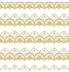 White and gold lace seamless stripes pattern vector
