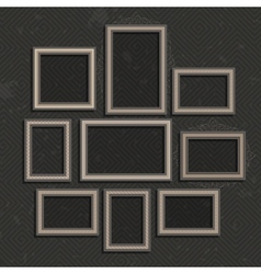 Wooden picture frame set vector