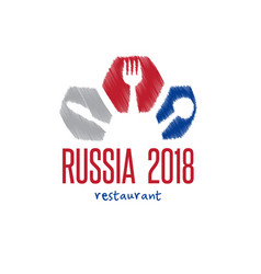 world cup in russia 2018 restaurant with spoon vector image