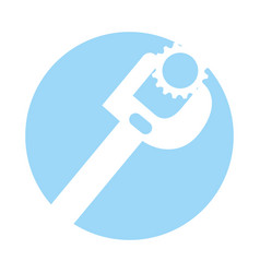 Wrench tool with nut vector