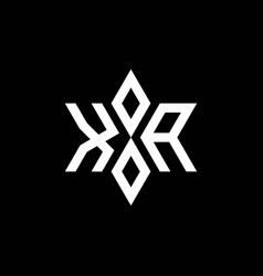 Xa monogram logo with star shape and luxury style vector