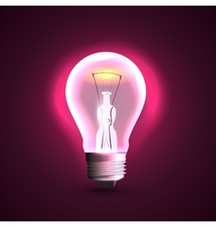 Creative design with light bulb vector image