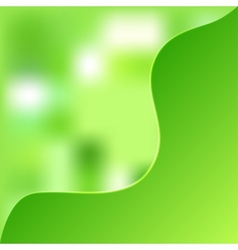 green blurred background vector image
