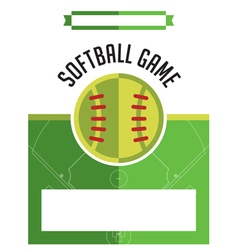 Softball Game Flyer vector image vector image