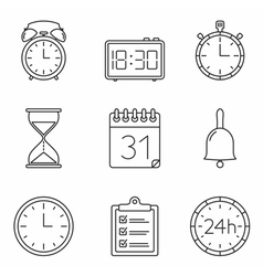 Time Line Icons vector image vector image