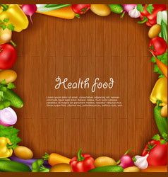 Vegetable Health Food Background vector image