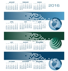 2016 web banners cal vector image vector image