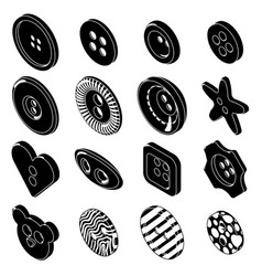 Clothes button icons set simple style vector