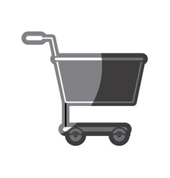 grayscale silhouette of shopping cart vector image vector image