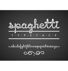 spaghetti typeface vector image