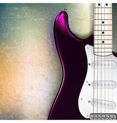 abstract jazz rock grunge background with red vector image vector image