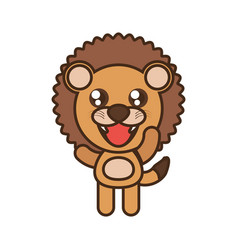 cute lion toy kawaii image vector image