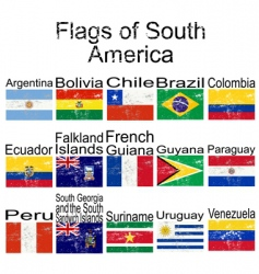 flags of south America vector image vector image