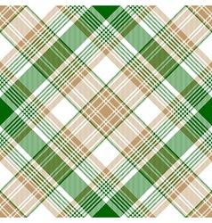 Green gold check diagonal plaid seamless pattern vector image vector image