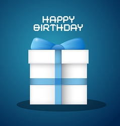 Happy Birthday with Blue Background and Pape vector image vector image