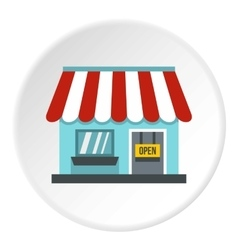 Shop store icon flat style vector image