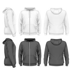 Men zip hoodie vector image vector image