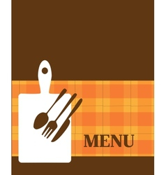 menu template with kitchen elements vector image vector image