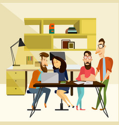 office team concept vector image vector image