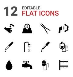 12 drop icons vector