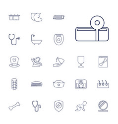 22 care icons vector