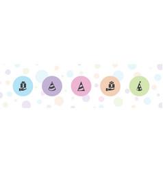 5 celebrating icons vector