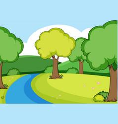 A simple river scene vector