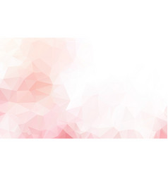 abstract white pink polygonal which consist of vector image