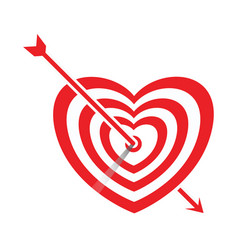 Arrow impale on goal heart vector