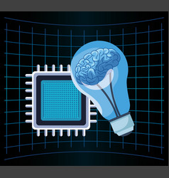 artificial intelligence technology motherboard vector image