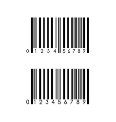 Barcode icon template item scan mark for vector