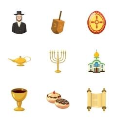 Beliefs icons set cartoon style vector
