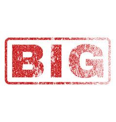 big rubber stamp vector image