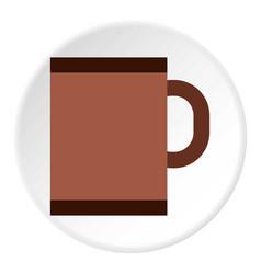 brown mug icon flat style vector image