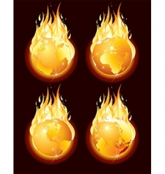 Burning earth vector