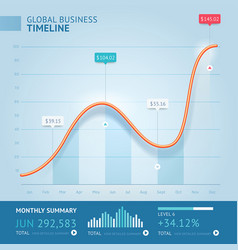 business 3d infographic line template vector image